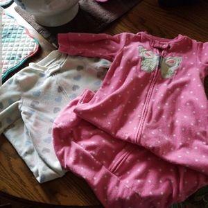 TWO Sleep sack pajamas